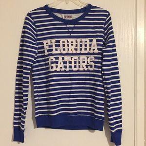 Blue and white stripped Florida Gators Sweatshirt